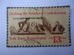 Stamps United States -  Drafting the Articles of Confederation-York Town, Pennsylvania 1777