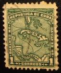 Stamps America - Cuba -  Mapa Cuba 1911