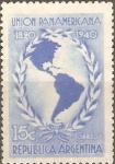 Sellos de America - Argentina -  MAPA  DE  LAS  AMÈRICAS