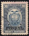 Sellos de America - Ecuador -  Sellos Fiscales sobrecargada o Overprinted Tipo
