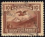 "Stamps Ecuador -  Cóndor sobre ""El Altar"""