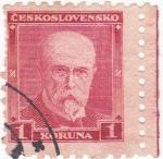 Stamps Czechoslovakia -  Tomas Masaryk 1850-1935