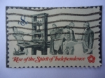 Stamps United States -  Rise of the Spirit of de Independence