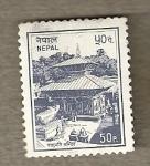 Sellos del Mundo : Asia : Nepal : Templo
