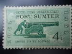 Stamps United States -  Civil War Centennial- Fort Smter-1861-1961