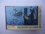 Stamps United States -  Bicentennial Era- The Boston tea Party.