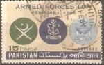 Stamps Pakistan -  EMBLEMA  DE  LAS  FUERZAS  ARMADAS  DE  PAQUISTAN