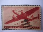 Stamps United States -  United States America- Air Mail- Bimotor