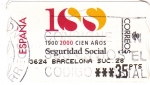 Stamps : Europe : Spain :  100 AÑOS SEGURIDAD SOCIAL  (V)