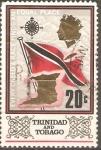 Stamps America - Trinidad y Tobago -  BANDERRA  Y  EL  MAPA  DE  LAS  ISLAS