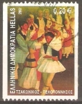 Sellos de Europa - Grecia -  DANZA.  TSAKONIKOS