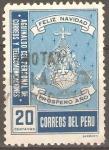 Stamps Peru -  SELLO  VOLUNTARIO  PARA  FONDO  DE  EMPLEADOS  POSTALES