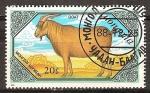 Sellos del Mundo : Asia : Mongolia : Cabras.(Cabra marrón)