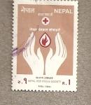 Stamps Asia - Nepal -  Jubileo Cruz Roja