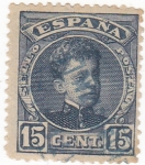 Stamps Spain -  ALFONSO XIII Cadete   (V)