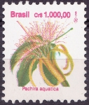 Stamps Brazil -  Pachira aquatica