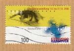 sello : Europa : Alemania : Scott 2060. Expo de Hannover 2000.
