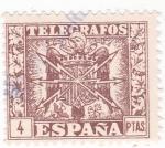 Stamps Spain -  sello de TELÉGRAFOS  (V)