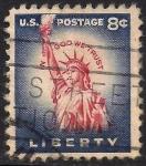 Stamps United States -  Estatua de la Libertad.