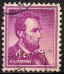 Sellos de America - Estados Unidos -  Abraham Lincoln.