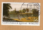 Stamps Germany -  Scott 2159. Jardines del rey Dessau Wörlitz. (UNESCO)