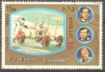 Stamps United Arab Emirates -  MISIÒN  APOLO  16.  CAMINATA  LUNAR.