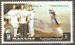 Stamps United Arab Emirates -  MISIÒN  APOLO  15.   TRIPULACIÒN  Y  FUTURA  EXPLORACIÒN.