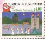 Stamps El Salvador -  POMPA  DE  ÀNGELES   E   IGLESIA