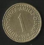 monedas de Europa - Yugoslavia -  DINAR - R. SOCIALISTA DE YUGOSLAVIA (CARA FRONTAL)