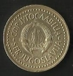 monedas de Europa - Yugoslavia -  DINAR - R. SOCIALISTA DE YUGOSLAVIA (CARA POSTERIOR)
