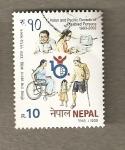 Stamps Asia - Nepal -  Decada Discapacitados