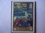 Stamps Spain -  Ed:2080- Día del Sello - La vuelta de la Pesca -Pintores:Solana.