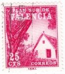 Stamps Spain -  PLAN SUR DE VALENCIA-Barraca valenciana  (V)