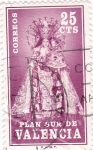 Stamps : Europe : Spain :  PLAN SUR DE VALENCIA- Virgen de los Desamparados (V)