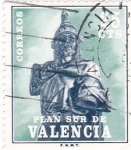 Stamps : Europe : Spain :  PLAN SUR DE VALENCIA-Jaime I  (V)