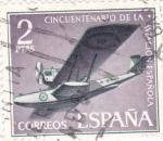 Stamps : Europe : Spain :  Cincuentenario de la aviacion española(V)