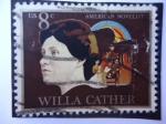 Sellos de America - Estados Unidos -  Willa  Cather  -                 American Novelist.