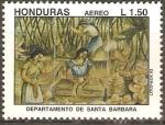 Stamps Honduras -  DEPARTAMENTO  DE  SANTA  BÀRBARA
