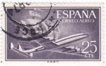 Sellos de Europa - España -  Super-constelación y nao (V)