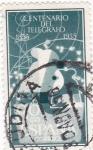 Stamps Spain -  CENTENARIO DEL TELÉGRAFO 1855-1955   (V)