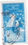 Sellos de Europa - España -  CENTENARIO DEL TELÉGRAFO 1855-1955   (V) vta.1,30€
