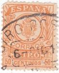 Sellos de Europa - España -  sello para GIRO  (V)