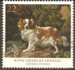 Stamps United Kingdom -  PERRO.   PINTURA  DE  GEORGE  STUBBS.
