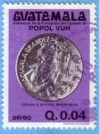 Sellos de America - Guatemala -  Homenaje de la fundación del centavo al Popol Vuh