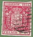Stamps Spain -  Escudo de España, Edifil 24