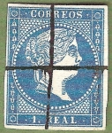 Stamps Europe - Spain -  Isabel II, Edifil 49
