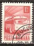 Sellos del Mundo : Europa : Rumania : Trolley-bus (p).