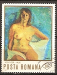 Sellos del Mundo : Europa : Rumania : Pinturas de desnudos. Nude (J. Iser).