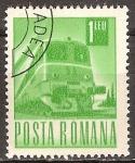 Sellos del Mundo : Europa : Rumania : Transportes y telecomunicaciones-ferrocarril,diesel-electrico.
