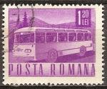 Sellos del Mundo : Europa : Rumania : Transportes y telecomunicaciones-Bús de motor Coach.